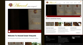 Web Design Portfolio- Atwood Estate Vineyards