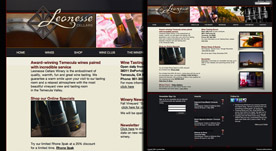 Web Design Portfolio- Leonesse Cellars Winery