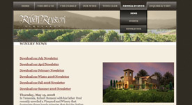Web Design Portfolio- Robert Renzoni Vineyards