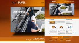 Web Design Portfolio- Buy The Barrrel Wine Program