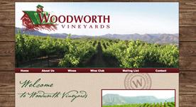 Web Design Portfolio- Woodworth Vineyards